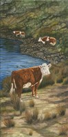 Cattle by the River Fine-Art Print