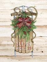 Holiday Sports II on Wood Sleigh Rides Fine-Art Print