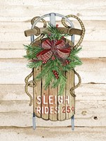Holiday Sports II on Wood Sleigh Rides Fine-Art Print