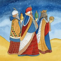 Christmas in Bethlehem I with Stars Fine-Art Print