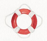 Coastal Icon I Red Fine-Art Print