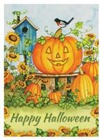 Halloween Pumpkins Happy Halloween Fine-Art Print