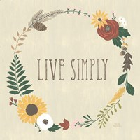 Autumn Garden Live Simply Fine-Art Print