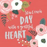 Wildflower Daydreams VII Grateful Heart Fine-Art Print