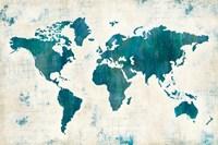 Discover the World Blue Fine-Art Print