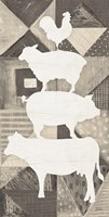 Modern Americana Animal Stack Neutral Fine-Art Print