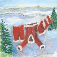 Santa Suit on Clothesline Fine-Art Print