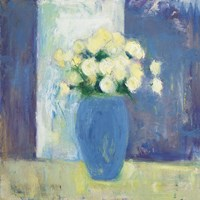 Ranunculi in Blue Vase Fine-Art Print