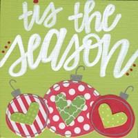 Green Ornaments Tis the Season Fine-Art Print