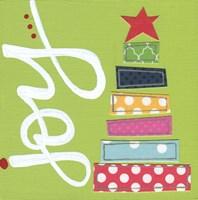 Green Stacked Tree Joy Fine-Art Print
