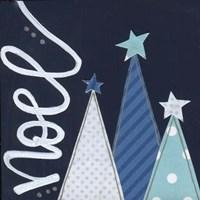 Navy Trees Noel Fine-Art Print