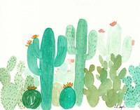 Green Cactus Landscape Fine-Art Print