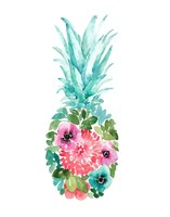 Floral Pineapple I Fine-Art Print
