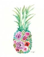 Floral Pineapple III Fine-Art Print