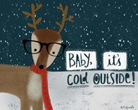 Cold Hipster Reindeer Fine-Art Print