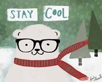 Hipster Bear Stay Cool Fine-Art Print