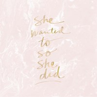 She Wanted To - Blush Marble Fine-Art Print