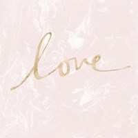 Love - Blush Marble Fine-Art Print