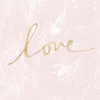 Love - Blush Marble Fine-Art Print