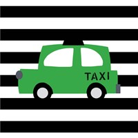 Bright Green Taxi Fine-Art Print