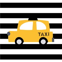 Bright Yellow Taxi Fine-Art Print