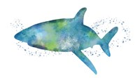 Watercolor Shark I Fine-Art Print