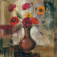 Poppies in a Copper Vase II Fine-Art Print