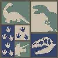 Dino Collage Fine-Art Print