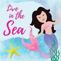 Live in the Sea - Mermaid Fine-Art Print