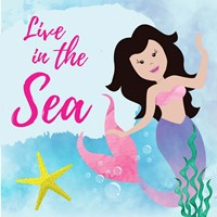 Live in the Sea - Mermaid Fine-Art Print