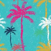 Tropical Palm Tree Pattern Fine-Art Print