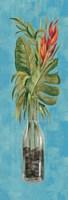 Tropical Lush II on Blue Fine-Art Print