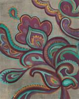 Bohemian Paisley I Aubergine Fine-Art Print