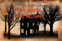 Very Scary Halloween Framed Print