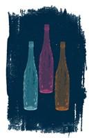 Bottles on Navy Fine-Art Print