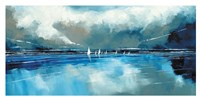 Blue Sky and Boats I Fine-Art Print