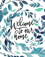 Welcome to Our Home - Blue Fine-Art Print