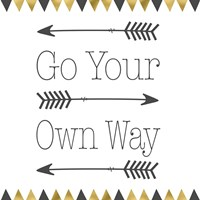 Go Your Own Way Square Fine-Art Print