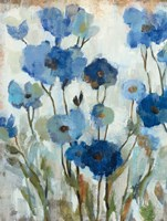 Abstracted Floral in Blue II Fine-Art Print