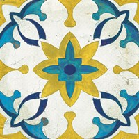 Andalucia Tiles D Blue and Yellow Fine-Art Print