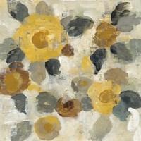 Neutral Floral Beige II Yellow Flowers Fine-Art Print