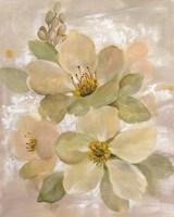 White on White Floral I Fine-Art Print