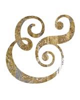 Gilded Hipster Ampersand Fine-Art Print