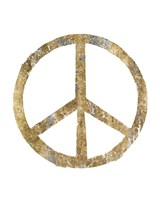 Gilded Hipster Peace Fine-Art Print