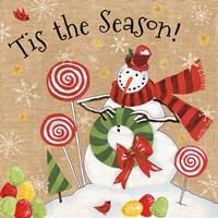 Sweet Snowmen III Fine-Art Print