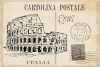 Postcard Sketches III v2 Fine-Art Print