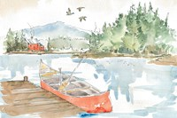 Lakehouse I Red Fine-Art Print
