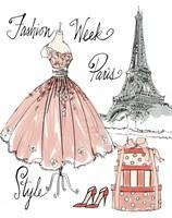 Fashion Week III on White Fine-Art Print