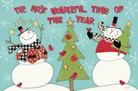 Snowman Sentiments I Fine-Art Print