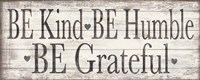 Kind Humble Grateful Wood Sign Fine-Art Print